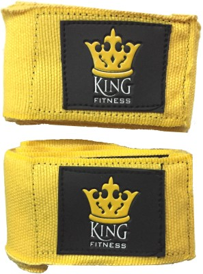 KING FITNESS XTREME FIGHTER PRO 2.75 METERS SET OF 2 Pccs Yellow Boxing Hand Wrap(Yellow, 180 inch)