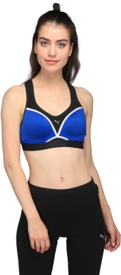 Puma Women Sports Lightly Padded Bra(Multicolor) at flipkart