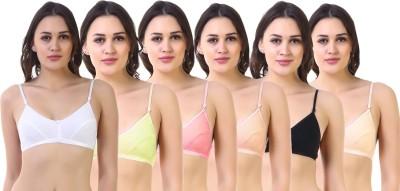SK Dreams Women's Full Coverage Non Padded Bra(Multicolor)
