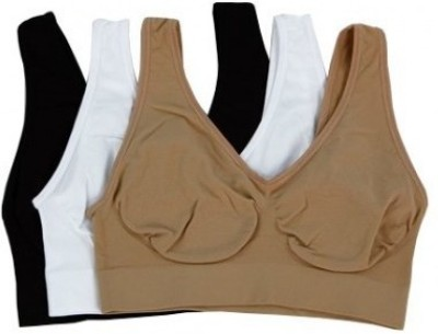 Wonder World ® Essentials™ Slim N Lift Aire™ Women Sports Non Padded Bra(White, Black, Beige) at flipkart