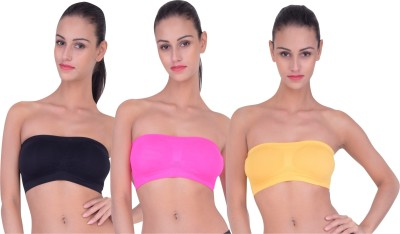 Piftif Women Tube Non Padded Bra(Multicolor)
