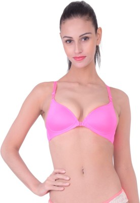 PrivateLifes Naughty Collection Women T-Shirt Lightly Padded Bra(Pink) at flipkart
