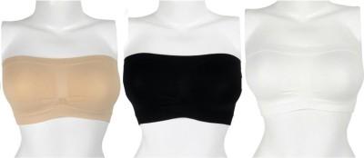 PrivateLifes Privacy Women Tube Heavily Padded Bra(White, Black, Beige) at flipkart