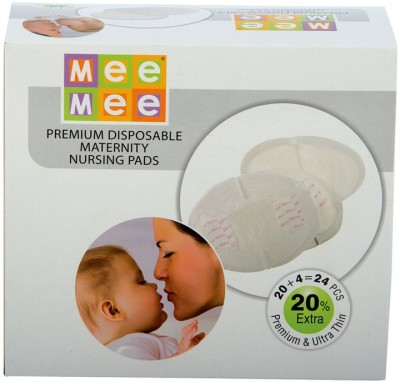 MeeMee Disposable Maternity Nursing Breast Pads(24 Pieces)