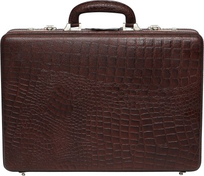 C Comfort EL448 Genuine Leather Expandable Briefcase Office Bag Medium Briefcase - For Men(Brown) at flipkart