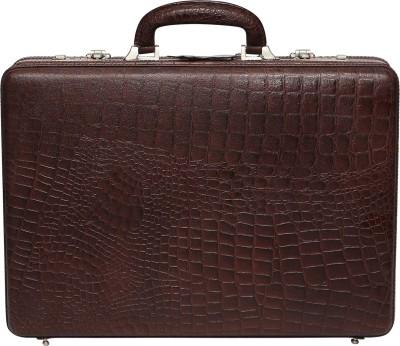 C Comfort EL448 Genuine Leather Expandable Briefcase Office Bag Medium Briefcase - For Men(Brown) at flipkart