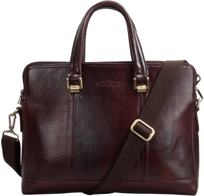 f279783834 2% OFF on Clubb Original Pure Leather Sleek Unisex Laptop Messenger  Portfolio Bag Medium Briefcase