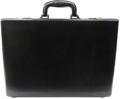 Mex Sleek Medium Briefcase - For Men(Black) at flipkart