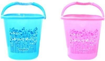 Nayasa 25 L Plastic Bucket(Blue, Pink) at flipkart