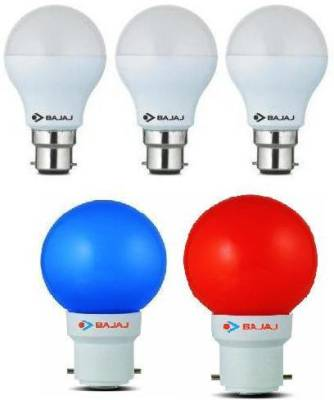 7-W,-0.5-W-LED-Bulb-White,-Blue,-Red-(pack-of-5)
