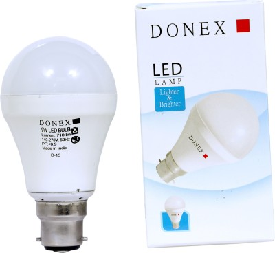 Donex-9W-Aluminium-Body-White-LED-Bulb-(Pack-of-2)