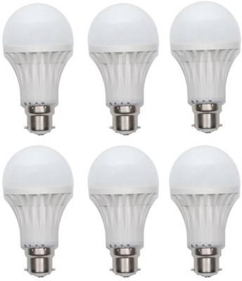 Gs 6W B22 LED Bulb (White, Set of 6) Image