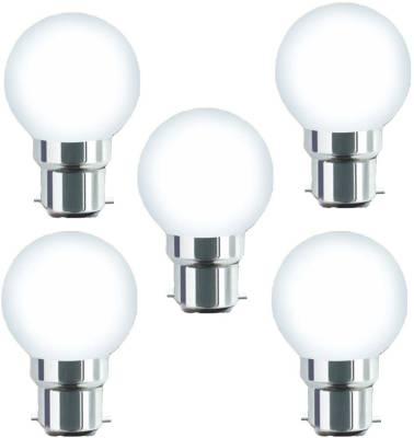 0.5W-B22-Warm-White-LED-Bulb-(Plastic,-Pack-of-5)