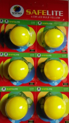 Wipro-0.5W-LED-Bulb-(Yellow-,-pack-of-6)