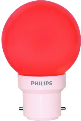 Philips-0.5W-Deco-B22-IND-LED-Bulb-(Red,-Pack-of-6)