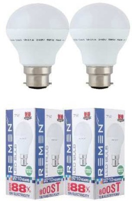 REMEN-7W-B22-LED-Bulb-(White,-Set-of-2)