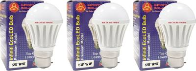 Eco-B22-5W-LED-Bulb-(Warm-White,-Pack-of-3)-