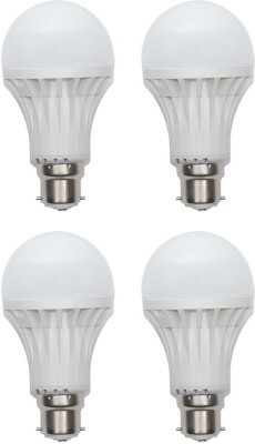 Kalash-Gold-15W-Plastic-Body-LED-Bulb-(White,-Pack-of-4)