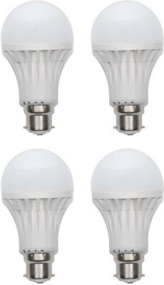 Gold-15W-Plastic-Body-LED-Bulb-(White,-Pack-of-4)-