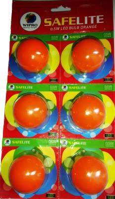 0.5W-LED-Deco-Bulb-(Orange,-Pack-of-6)