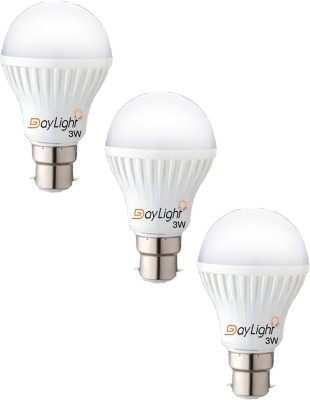 Daylight-3W-B33-LED-Bulb-(White,-Set-Of-3)