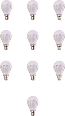 12W-B22-White-LED-Bulb-(Plastic,-Pack-of-10)