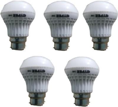 Gypee-3W-LED-Bulb-(White,-Pack-of-5)
