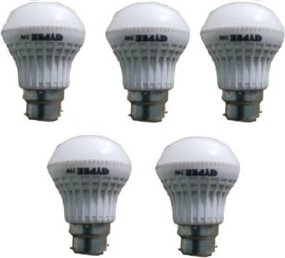 3W-LED-Bulb-(White,-Pack-of-5)