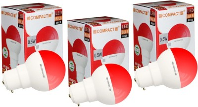 0.5-W-LED-Night-Lamp-B22-Bulb-Red-(pack-of-3)