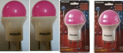 Philips-0.5-W-LED-Bulb-B22-Pink-(Pack-of-4)