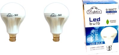 Dolphin-9W-LED-Bulb-(White,-Pack-Of-2)