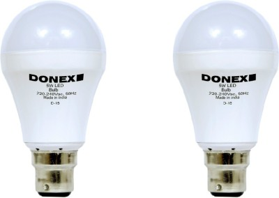 Donex-5W-Aluminium-Body-White-LED-Bulb-(Pack-of-2)