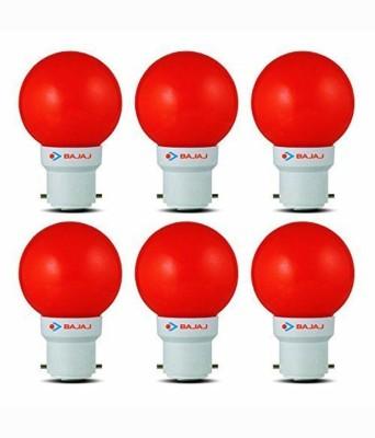 Bajaj-0.5W-LED-Bulbs-(Red,-Pack-of-6)