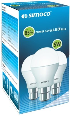 Simoco-5W-B22-LED-Bulb-(White)