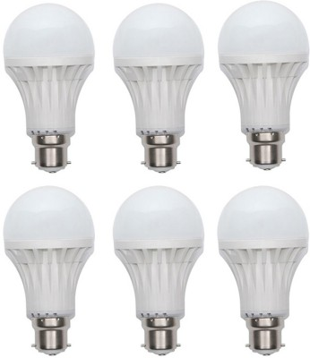 Kalash-Gold-9W-Plastic-Body-Warm-White-LED-Bulb-(Pack-Of-6)