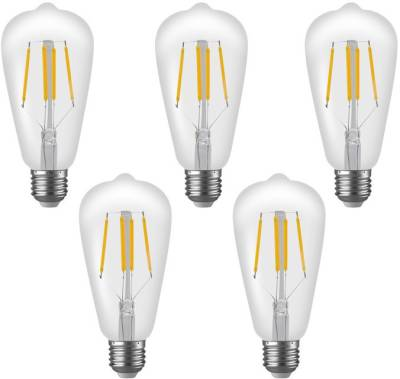 Imperial-ST01-4W-E27-LED-Filament-Bulb-(Yellow,-Pack-Of-5)