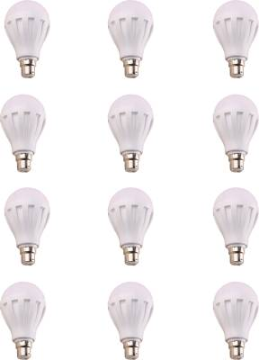 Hexadisk 12W LED Bulb (White, Pack of 12) Image