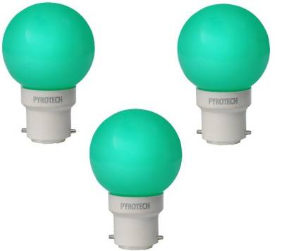 Pyrotech-0.5W-LED-Bulb-(Green,-Pack-of-3)