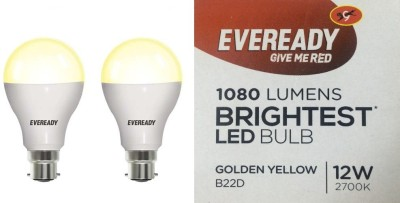 Eveready-12W-B22D-LED-Bulb-(Golden-Yellow,-Pack-of-2)