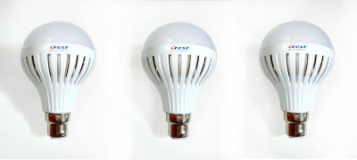 Crest-5W-B22-Cool-White-6500K-LED-Bulb-(Plastic,-Pack-of-3)