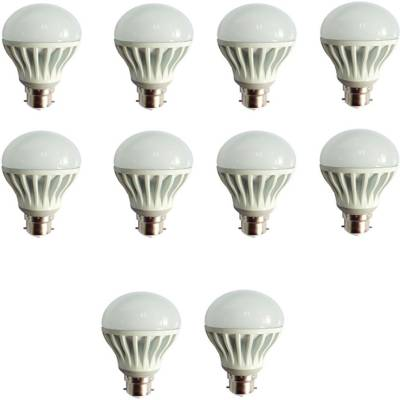 Gold-12W-Plastic-Body-Warm-White-LED-Bulb-(Pack-Of-10)