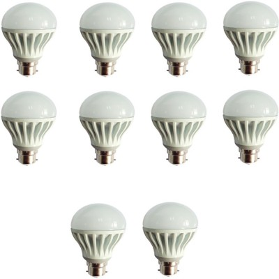 Gold-12W-Plastic-Body-Warm-White-LED-Bulb-(Pack-Of-10)
