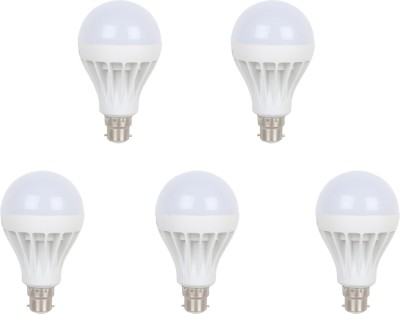 Earton-9W-B22-LED-Bulb-(White,-Set-of-5)