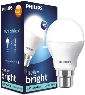 Philips 10.5 W Standard B22 LED Bulb(White, Pack of 4) at flipkart