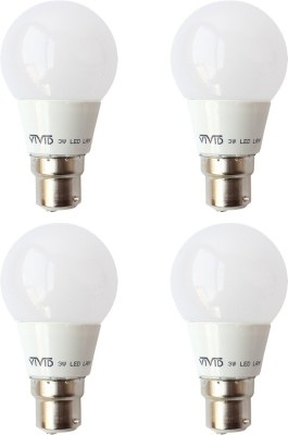3-W-B22-LED-Bulb-(White,-Pack-of-4)