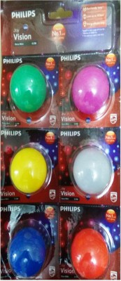Philips-Decomini-0.5W-LED-Bulb-(Pack-of-6)-(Multicolour:White,-Pink,-Blue,-Yellow,Red-and-Green)