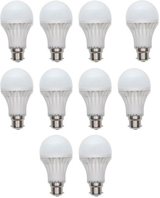 Gold-15W-Plastic-Body-Warm-White-LED-Bulb-(Pack-Of-10)