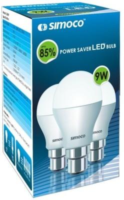 Simoco-9W-B22-LED-Bulb-(White)