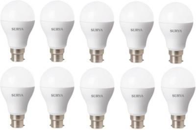 Surya 12W B22D 1260 Lumens White LED Bulbs (Pack of 10) Image