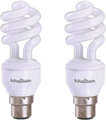 Khaitan 11 W Spiral CFL Leon Cool Bulb (Pack of 2) Image